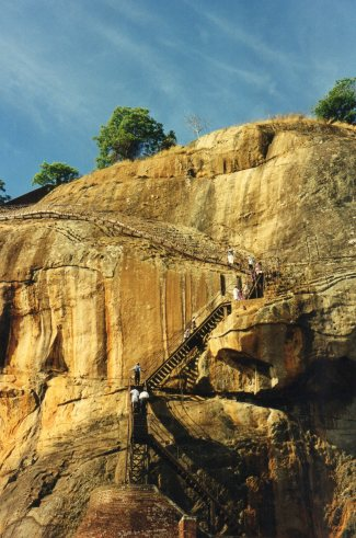 Sigiriya - Up to the top