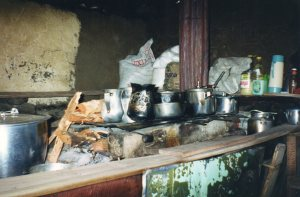 In the Finca - lunch being prepared