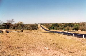 Dete Crossing and the great long road from Bulawayo to Vic Falls
