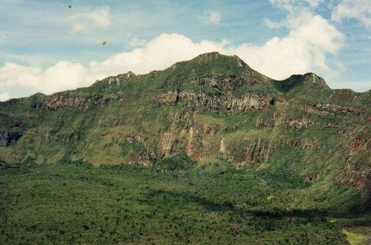 Mt Longonot - into the crater