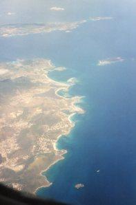 St Maarten (volcanic)  and Anguilla (coral)
