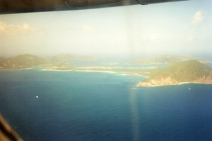 My first ever view of BVI _ looking down on Beef Island Airport from the LIAT plane
