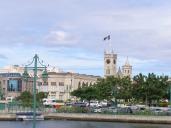 Bridgetown city centre and the parliament building